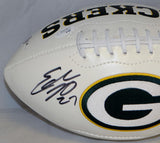 Eddie Lacy Autographed Green Bay Packers Logo Football W/ ROY and JSA Authenticated