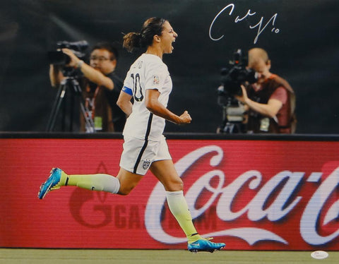 Carli Lloyd Autographed Team USA 16x20 Yelling Photo- JSA W Authenticated