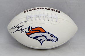 Neil Smith Autographed Denver Broncos Logo Football- JSA W Authenticated