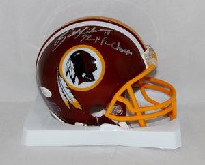 Billy Kilmer Autographed Washington Redskins Mini Helmet W/ NFL Champs- JSA Auth