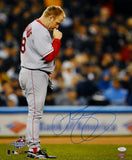 Curt Schilling Signed *Blue Boston Red Sox 16x20 Kissing Necklace Photo- JSA W Auth