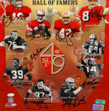 San Francisco 49ers HOFers Autographed *Black 16x20 Photo- JSA Authenticated