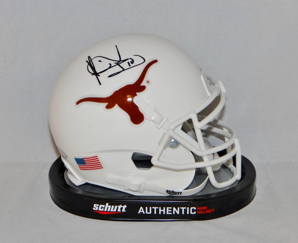Vince Young Autographed Texas Longhorns Schutt Mini Helmet- TriStar Authenticated