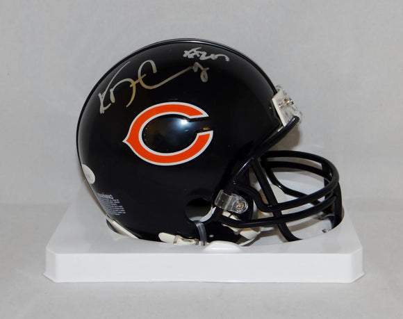 Ka'Deem Carey Autographed Chicago Bears Mini Helmet- JSA Witnessed Auth