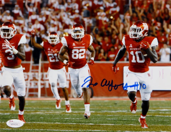 Demarcus Ayers Autographed Houston Cougars 8x10 Running W/ Ball Photo- JSA W Auth