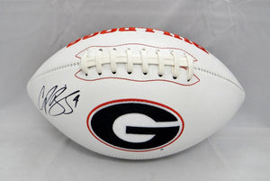 Champ Bailey Autographed Georgia Bulldogs Logo Football- JSA Witnessed Auth
