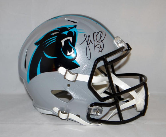 Luke Kuechly Autographed Carolina Panthers F/S Speed Helmet- JSA Witnessed Auth