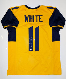 Kevin White Autographed Yellow College Style Jersey- JSA Witnessed Authenticated
