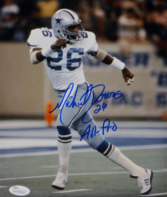 Michael Downs Signed Dallas Cowboys 8x10 Vertical Photo W/ All-Pro- JSA W Auth