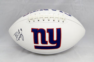Brad Wing Autographed New York Giants Logo Football- JSA Witnessed Auth