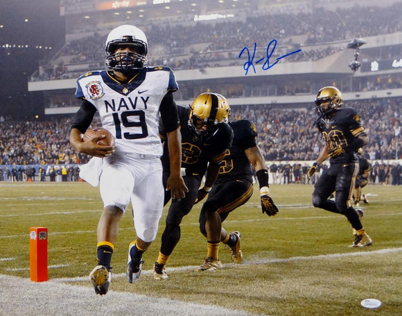 Keenan Reynolds Autographed Navy Midshipmen 16x20 Against Army Photo- JSA W Auth