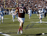 Mike Evans Signed *Blue Texas A&M 16x20 Running Against Auburn Photo- JSA W Auth