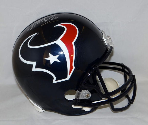Lamar Miller Autographed Houston Texans Full Size Helmet- JSA Witnessed Auth