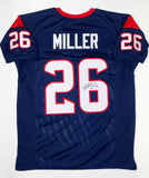 Lamar Miller Autographed Blue Pro Style Jersey- JSA Witnessed Authenticated