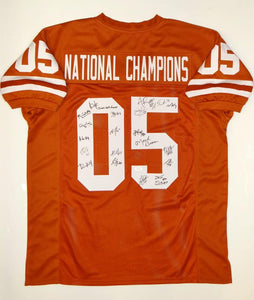UT 05' National Champions Signed Orange College Style Jersey 20 Sigs- JSA W Auth