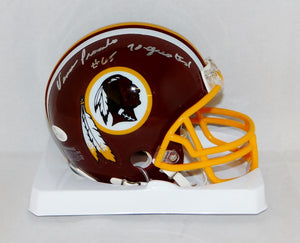 Vince Promuto Signed Washington Redskins Mini Helmet W/ 70 Greatest- JSA W Auth