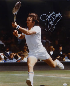 Jimmy Connors Autographed 16x20 Side View Photo- JSA Witnessed Authenticated