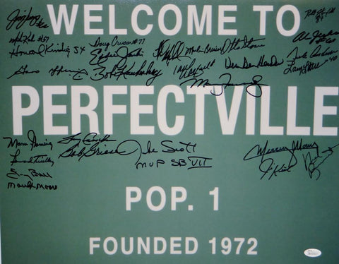 1972 17-0 Perfect Season Autographed 16x20 Perfectville Photo- JSA W Auth
