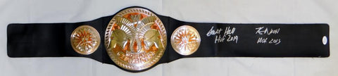 Scott Hall Kevin Nash Autographed Wrestling Belt With HOF- JSA Witnessed Auth