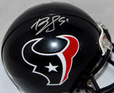 Brian Cushing Autographed Houston Texans Mini Helmet- JSA Witnessed Auth