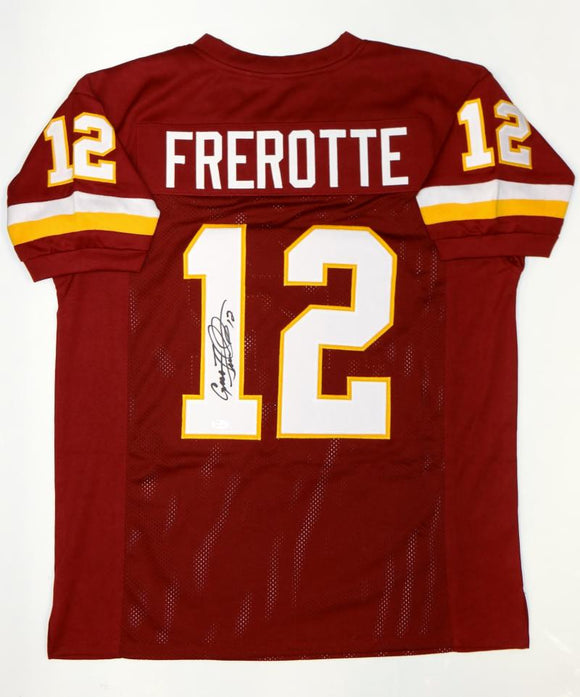 Gus Frerotte Autographed Maroon Pro Style Jersey- JSA Witnessed Authenticated