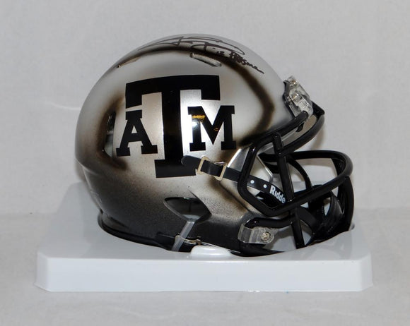 Johnny Manziel Signed Texas A&M Aggies Ice Hydro Mini Helmet W/ HT- JSA W Auth