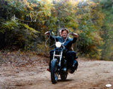 Norman Reedus Autographed Walking Dead 16x20 Motorcycle Photo- JSA W Auth