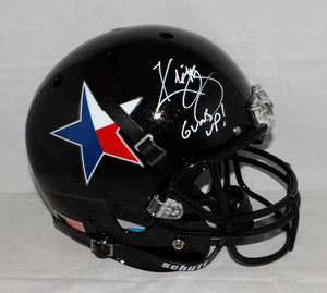 Kliff Kingsbury Signed Texas Tech F/S Texas Pride Helmet W/ Guns Up- JSA W Auth