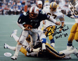 Lance McIlhenny Signed *Black 8x10 Mustangs Running Horizontal Photo- JSA W Auth