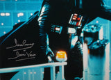 David Prowse Autographed Darth Vader 16x20 Star Wars Blue Photo- JSA W Auth *Silver