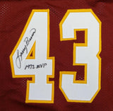 Larry Brown Mark Moseley Joe Theismann Signed Maroon ProStyle Jersey- JSA W Auth