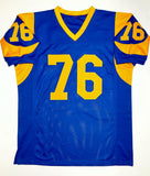 Orlando Pace Autographed Blue Pro Style Jersey With HOF- JSA Witnessed Auth