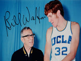 Bill Walton Autographed UCLA 16x20 Next to John Wooden Photo- JSA Witnessed Auth