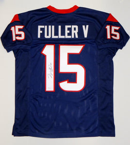 Will Fuller V Autographed Blue Pro Style Jersey- JSA Witnessed Authenticated *1