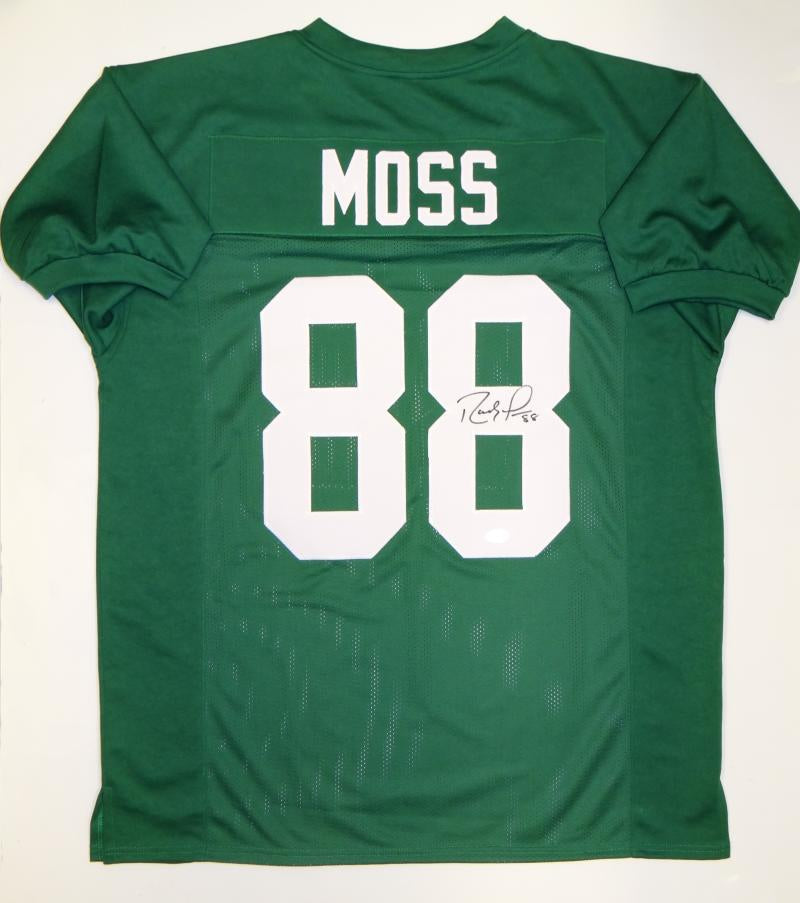 big sale 0f85b 753fe Randy Moss Autographed Green College Style Jersey- JSA Witnessed Auth