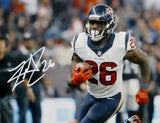 Lamar Miller Signed *White Houston Texans 8x10 Vertical Running Photo- JSA W Auth