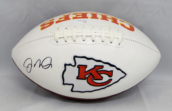 Joe Montana Autographed Kansas City Chiefs Logo Football- JSA Witnessed Auth