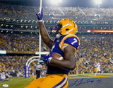 Leonard Fournette Autographed LSU Tigers 16x20 Pointing Up Photo- JSA W Auth