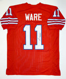 Andre Ware Autographed Red College Style Jersey W/ Heisman- JSA Witnessed Auth