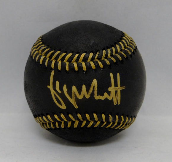 George Brett Autographed Rawlings OML Black Baseball- Beckett Authenticated
