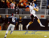 Mike Evans Autographed *Blue Texas A&M 16x20 In Air Against Ole Miss Photo- JSA Auth