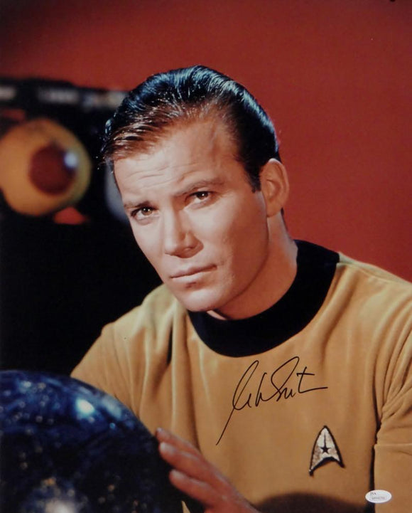 William Shatner Signed Star Trek 16x20 Up Close Posing *Blk Photo- JSA W Auth