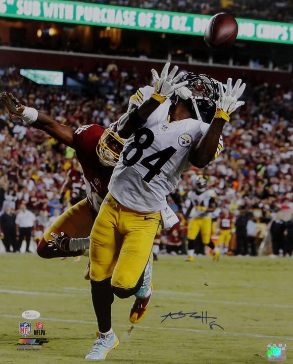 Antonio Brown Signed Steelers 16x20 Catch Against Redskins PF Photo- JSA W Auth