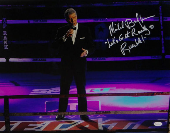 Michael Buffer Autographed 16x20 In the Ring *White Photo- JSA W Authenticated