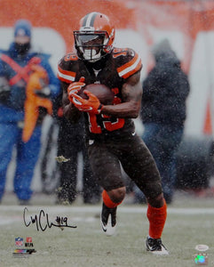 Corey Coleman Autographed Cleveland Browns 16x20 Running with Ball PF Photo- JSA W Auth