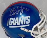 Brad Wing Autographed New York Giants Color Rush Mini Helmet *Silver- JSA W Auth