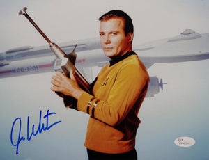 William Shatner Signed Star Trek 8x10 Photo Enterprise/Space Gun - JSA W Auth