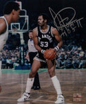 Artis Gilmore Signed Spurs 8x10 Looking to Pass Photo W/HOF- Jersey Source Auth