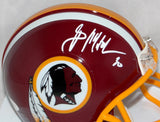 Brian Mitchell Autographed Washington Redskins Mini Helmet- JSA W Auth *White
