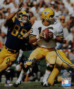 Fred Dryer Autographed 8x10 Against Packers Photo PF - SGC Authenticated
